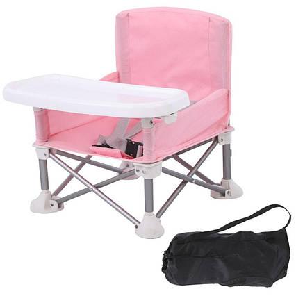 Детский стульчик для кормления Baby seat / Столик для кормления Розовый, фото 2