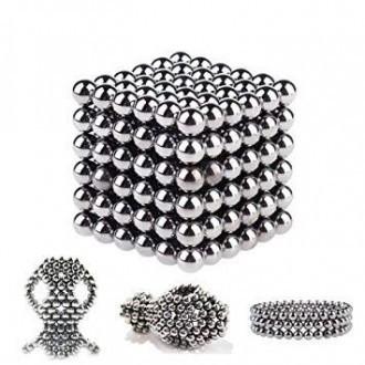Іграшка-головоломка Неокуб Neocube. Конструктор з 216 магнітних кульок 5 мм (нікель)