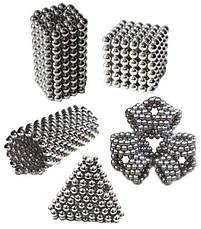 Игрушка-головоломка Неокуб Neocube. Конструктор из 216 магнитных шариков 5 мм (никель), фото 2