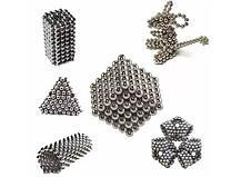 Игрушка-головоломка Неокуб Neocube. Конструктор из 216 магнитных шариков 5 мм (никель), фото 3