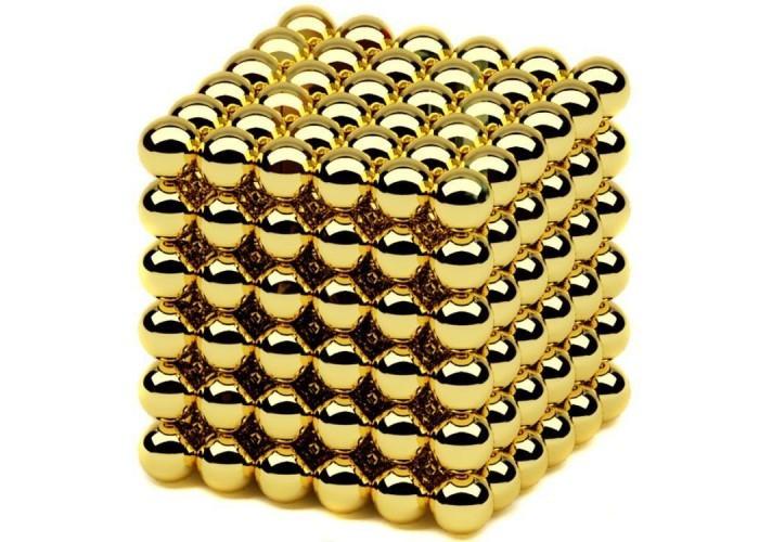 Конструктор-головоломка Neocube 216 кульок Золото / Дитяча іграшка NEO CUBE GOLD