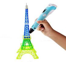 3D ручка с LCD дисплеем для рисования объемных моделей Голубой, фото 3