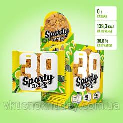 Фитнес печенье Sporty Fitness Лимон (60 грамм)