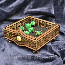 """Лоток для игры в кости """"Глаз дракона"""" / Dungeons and Dragons / Подземелье и драконы"""