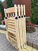 Складной деревянный стул натурального цвета ОПТОМ/Туристический стул складной/Деревянный стул раскладной