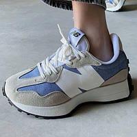 Женские кроссовки New Balance 327 Blue | Нью Беланс 327 Голубые