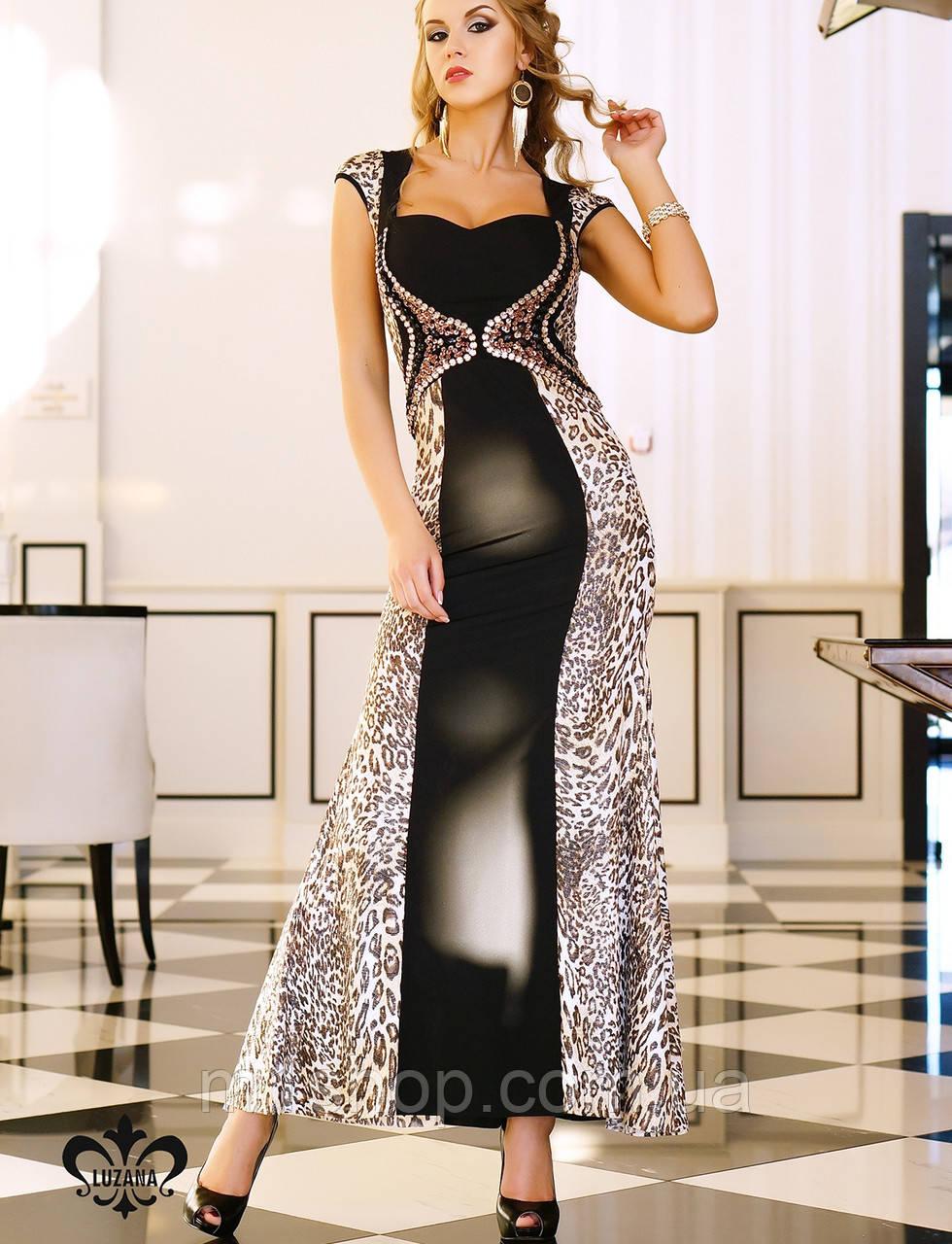 Платье с леопардовым принтом | Фисента lzn