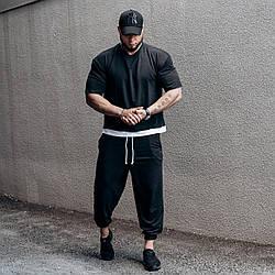 ASOS over Мужской спортивный костюм/комплект черный свободного кроя лето. Оверсайз Футболка+штаны