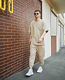 Чоловічий комплект Фортіс футболка + штани , бежевий, фото 2