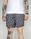 Чоловічі літні шорти, плащівка, сірі, фото 2