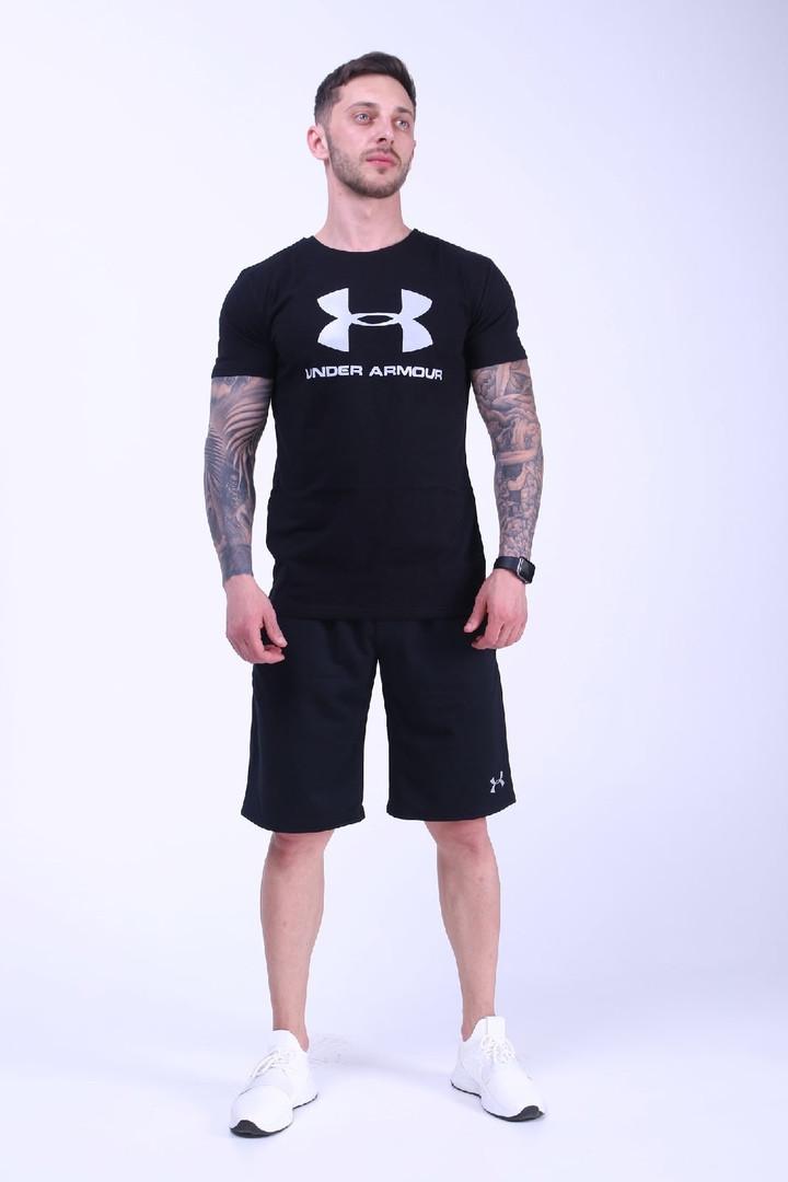 Чоловічий річний комплект (футболка+шорти), чорний