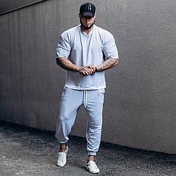 ASOS over Мужской спортивный костюм/комплект серый свободного кроя лето. Оверсайз Футболка+штаны