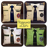 Подарочная подушка униформа полиции, сотруднику СБУ, пожарнику, стоматологу, моряку, нацгвардии, медику, врачу, фото 10