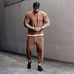 ASOS over Мужской спортивный костюм/комплект коричневый свободного кроя лето. Оверсайз Футболка+штаны