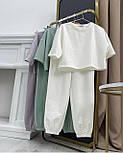 Костюм жіночий двійка з футболкою і штанами, фото 4