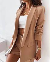Женский летний костюм пиджак + шорты. Размер: 42-44, 46-48. Цвет: малина, чёрный, беж, молоко
