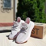 Женские кроссовки Adidas Yeezy Boost 350 розовые, фото 3