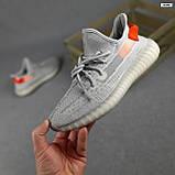 Мужские кроссовки Adidas Yeezy Boost 350 Серые с оранжевым, фото 2
