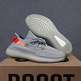 Мужские кроссовки Adidas Yeezy Boost 350 Серые с оранжевым, фото 3