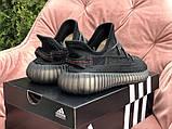 Женские кроссовки Adidas Yeezy Boost 350 v2 черный, фото 2