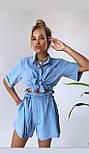 Костюм двійка жіночий з шортами і сорочкою, фото 2