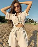 Костюм двійка жіночий з шортами і сорочкою, фото 3