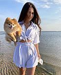 Костюм двійка жіночий з шортами і сорочкою, фото 4