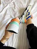 Женские кроссовки Nike M2K Tekno белые с синим, фото 2