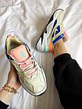 Женские кроссовки Nike M2K Tekno белые с синим, фото 3