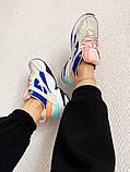 Женские кроссовки Nike M2K Tekno белые с синим, фото 4
