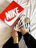 Женские кроссовки Nike M2K Tekno белые с синим, фото 5
