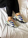 Женские кроссовки Nike M2K Tekno белые с синим, фото 6