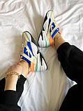 Женские кроссовки Nike M2K Tekno белые с синим, фото 7