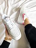 "Женские кроссовки Nike Air Force 1 SE""Love For All""  белые, фото 3"