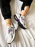 Жіночі кросівки New Balance 530 білі з фіолетовим, фото 4