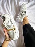 """Жіночі кросівки Nike Air Force Pixel """"Gold Chain"""" білі, фото 2"""