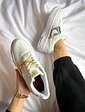 """Жіночі кросівки Nike Air Force Pixel """"Gold Chain"""" білі, фото 3"""