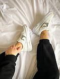 """Жіночі кросівки Nike Air Force Pixel """"Gold Chain"""" білі, фото 6"""