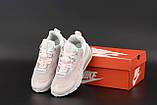 Жіночі кросівки Nike Air Max 270 Reасt біло рожеві, фото 3