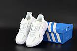 Мужские/ женские кроссовки Adidas Ozwееgо Celox белые, фото 4