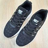 Мужские кроссовки Nike Zoom, чёрные на белой, фото 4