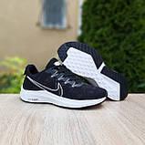 Мужские кроссовки Nike Zoom, чёрные на белой, фото 5