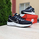 Мужские кроссовки Nike Zoom, чёрные на белой, фото 6