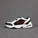 Мужские кроссовки Nike Air Monarch Белые с чёрным и красным, фото 2