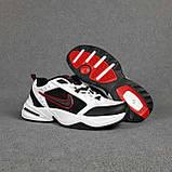 Мужские кроссовки Nike Air Monarch Белые с чёрным и красным, фото 3
