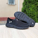 Чоловічі легкі кросівки Puma чорні, фото 2