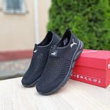 Чоловічі легкі кросівки Puma чорні, фото 3