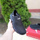 Чоловічі легкі кросівки Puma чорні, фото 5