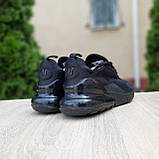 Женские кроссовки Nike Air Max 270 Чёрные, фото 2