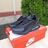 Женские кроссовки Nike Air Max 270 Чёрные, фото 6